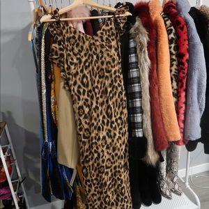Reformation Ferrara Gown in Leopard